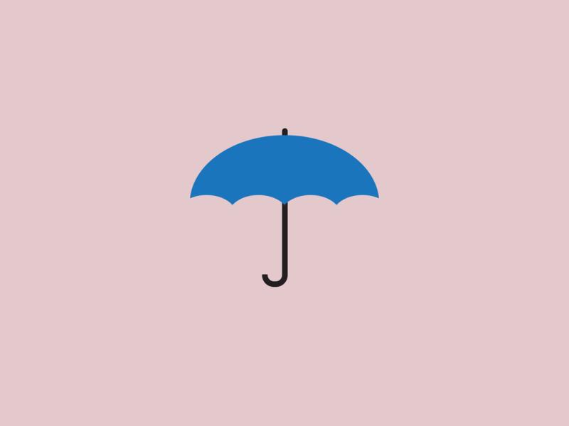 Umbrella flat illustration vector design