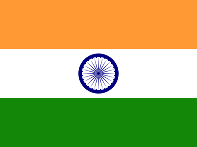 Indian Flag flat india flag design illustration