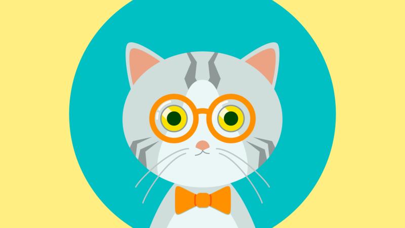 Cat Mugshot flat cat design vector illustration