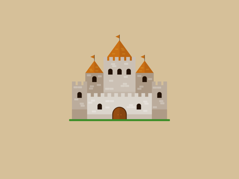 Castle flat design vector illustration