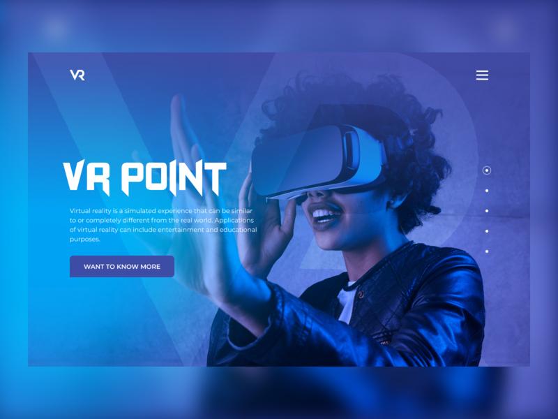 VR Point UI art website web ux ui design vr