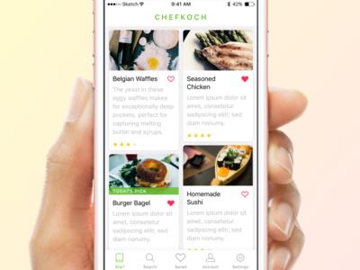 """Chefkoch"" Redesign Concept"