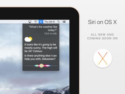 Siri on OS X