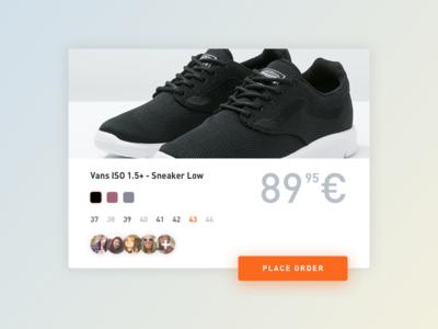 DailyUI #001 Sneaker Shop