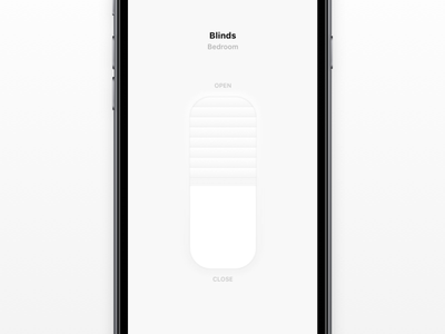 Blinds window ios skeuomorphic drag slider blinds smart home apple homekit