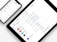 Transaction Details on iPad