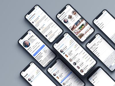Professional services app services business app design mobile ux ui design clean app