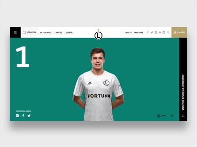 Legia Warsaw Website - Player Profile