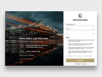 Legia Warsaw Website - Sign Up