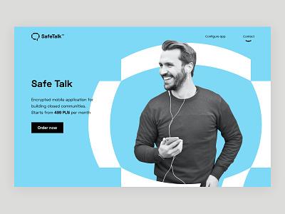 SafeTalk - website landing talk safe website logo motion identity branding space digital lab