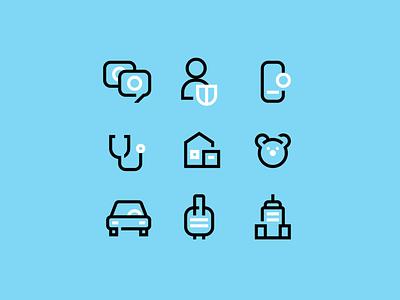 SafeTalk - icons set digital lab space branding identity motion logo website safe talk icons