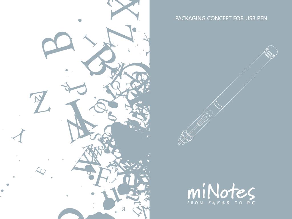 Packaging Concept for USB Pen packaging branding illustration