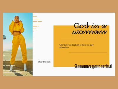 God is a Woman ariana grande typography type flat landing page ux website web design branding