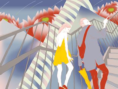 I Dreamed of the Shinjuku Station digital illustration digitalart illustration