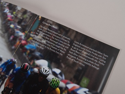 Glasgow 2014 Official Photostory Spread editorial layout typography publication print