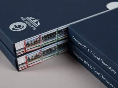 Glasgow 2014 Official Photostory Slipcase editorial layout typography publication print