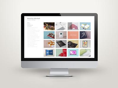 Personal Website web design graphic design website self promotion