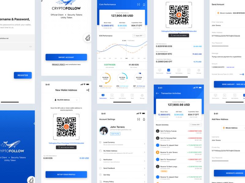 Crypto Wallet Application eos bitcoin cryptocurrency crypto wallet mobile app design ios app design app ux ui