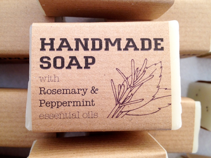 from last october my partner made soap to be given away as a wedding favour for her brothers wedding and i designed these labels