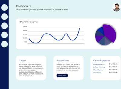 Concept Admin Dashboard design.