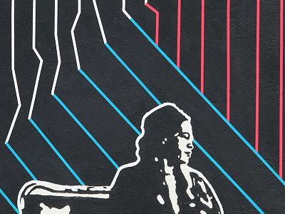 Black Liberation Mural - Detail 1 rosa parks black liberation paint lines mural