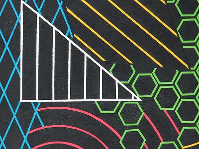Black Liberation Mural - Detail 2 - Crisp lines black liberation crisp paint mural lines