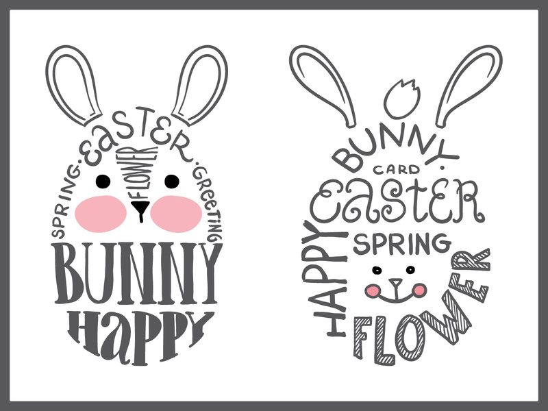 Easter bunny vector lettering lettering vector design illustration bunny easter bunny easter