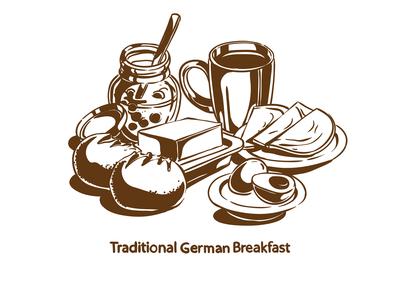 Traditional German breakfast