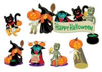Happy Halloween. Halloween costume characters.