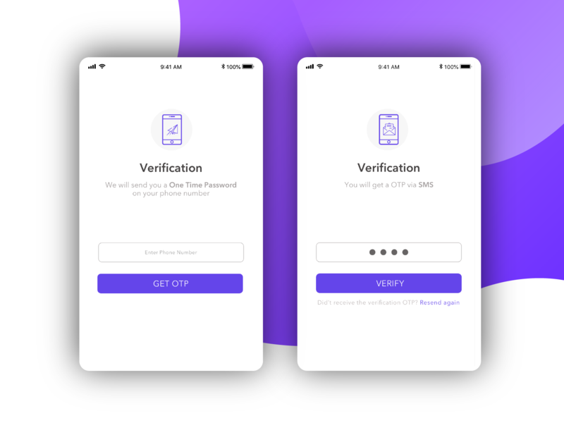 OTP & verification Screen! by Anjali Sharma on Dribbble
