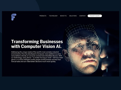 Floww Artificial Intelligence - Home page Design