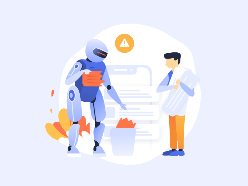 Automatization process illustration branding design automatization promo process users development onboarding illustration