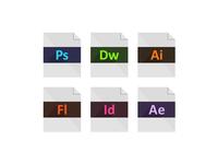 Adobe Creative Cloud Flat File Icons