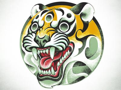 Tiger tattoo WIP #3