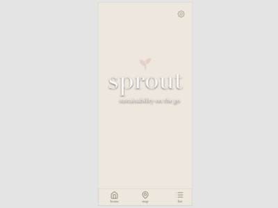 sprout app home screen