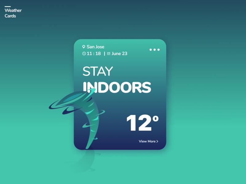 Weather Cards UI colors cool color palette clean conversational ui interaction design visual design webdesign app design uxdesign uiux uidesign cards design cards ui weather app