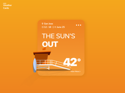 Weather App Cards