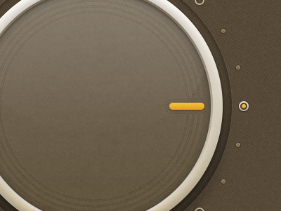 Frosted Glass Knob ui volume knob control dial