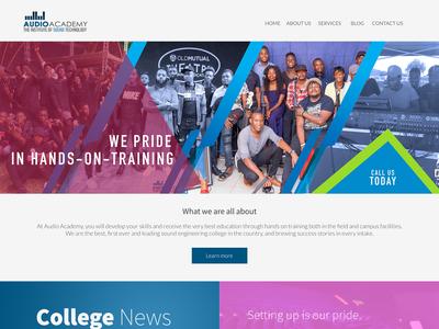Audio Academy website UI