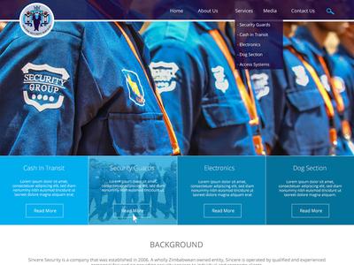 Security Website UI