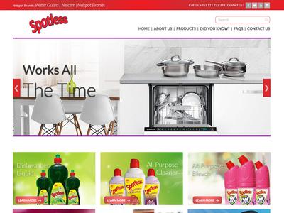 Detergents Website UI