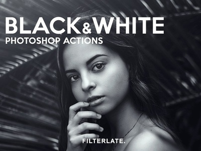 Black & White Photoshop Actions