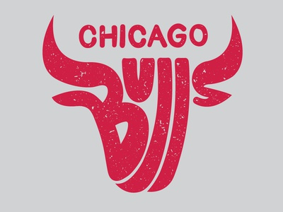 Bulls lettering typography logo nba basketball bulls chicago