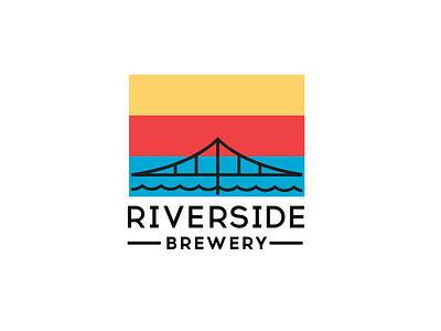 Riverside Brewery Brand Identity logotype logos brand identity branding design logodesign branding logo hipster brewery logo alcohol beer brewery