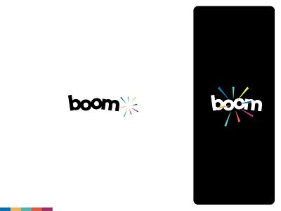 Boom | Logo & Branding Design logotype creative agency brand identity brand logos identity logodesign logo logo design branding design branding