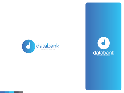 databank | Logo and branding security app transfer secure security safety logotype brand design brand identity logo logodesign logos logo design branding design branding