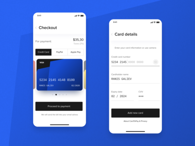 Credit Card Checkout for DailyUI --- 002
