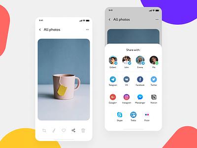 Social Share for DailyUI --- 010 app dailyui flat ui vector minimal figma design