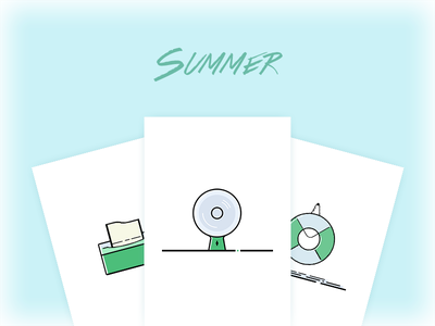 Icons for Summer summer icon