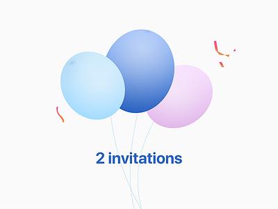 Dribbble invites x2 invitations invite